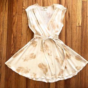 Doucette Duvall Silk Feather Dress
